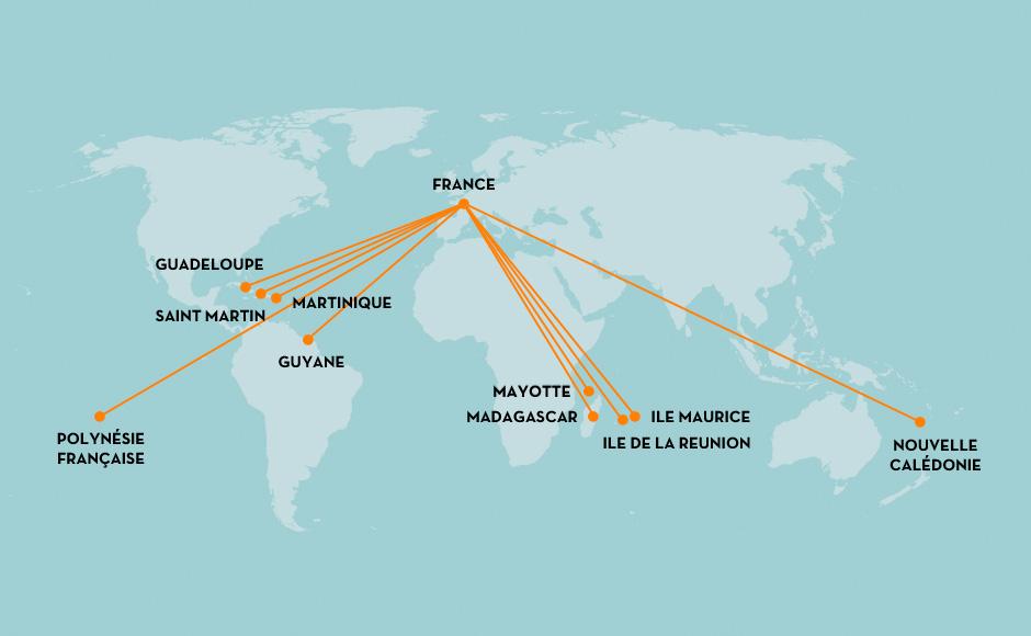 Outremer Fret // Principaux flux commerciaux dans le monde